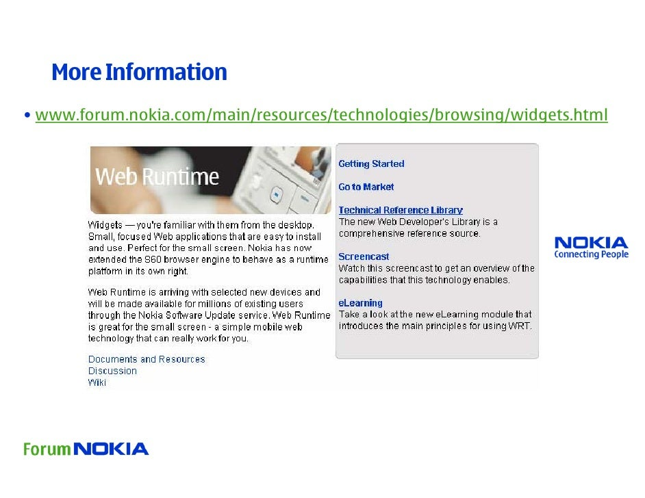 Nokia Web-Runtime Presentation (Phong Vu)