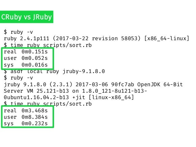 How fast is it really? Benchmarking in Practice (Ruby Version) Slide 3