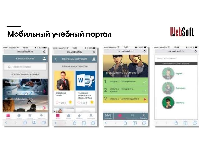 Решения Websoft для мобильного обучения Slide 3