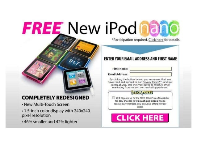 Do You Know You Can Have iPod Nano For FREE?