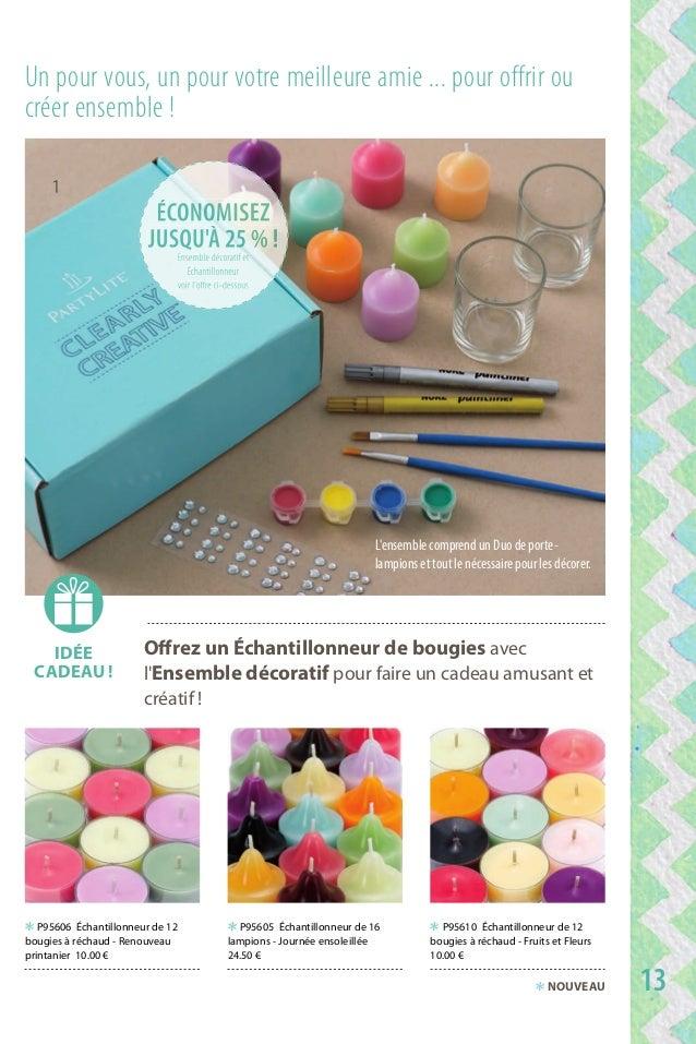 Offrez un Échantillonneur de bougies avec l'ensemble décoratif pour faire un cadeau amusant et créatif ! un pour vous, un p...