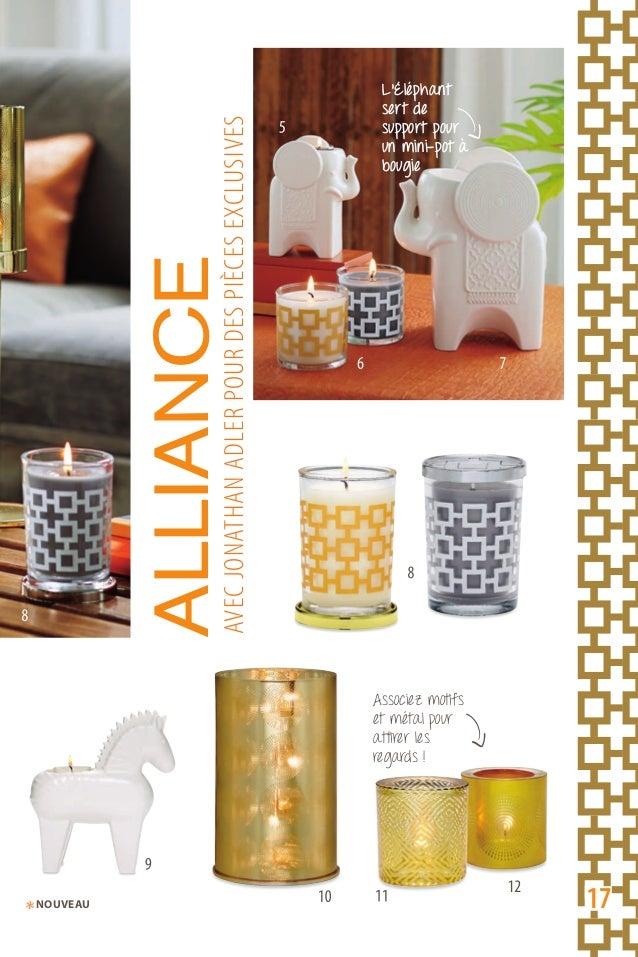 Associez motifs et métal pour attirer les regards ! L'Éléphant sert de support pour un mini-pot à bougie ALLIANCEaVeCJONat...