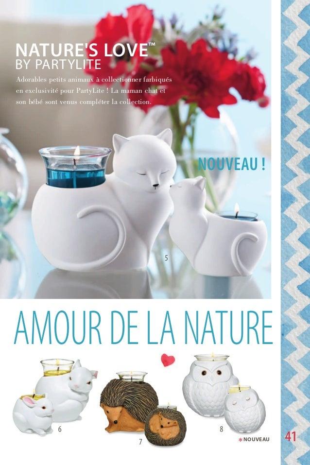 aMOurdelaNature noUVeaU ! Adorables petits animaux à collectionner farbiqués en exclusivité pour PartyLite ! La maman chat...