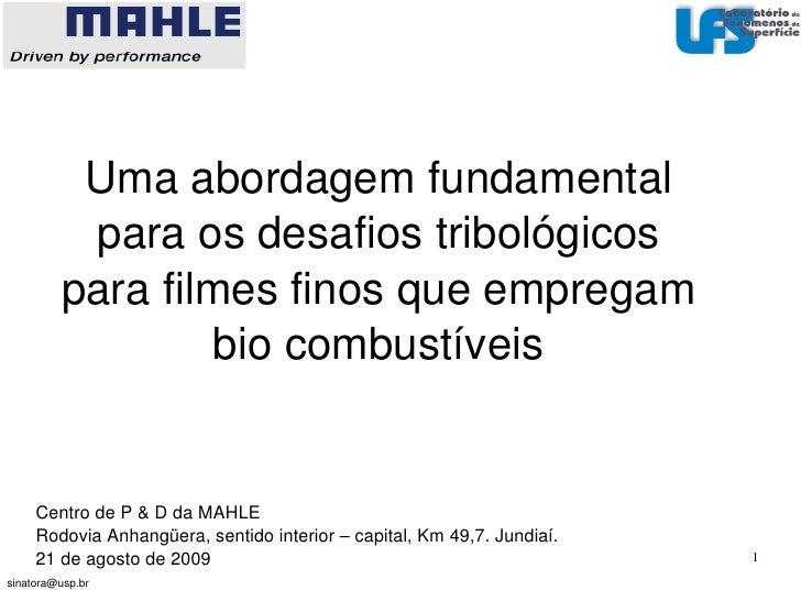 EscolaPolitécnica     UniversidadedeSãoPaulo               Umaabordagemfundamental           paraosdesafiostribo...