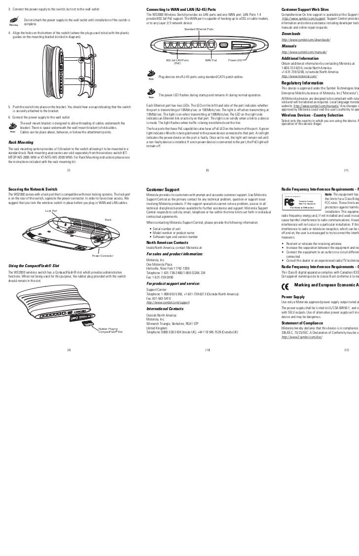 Ws2000 Wireless Switch Installation Guide Modifications Power Over Ethernet Poe 1 El Fon Blog 2
