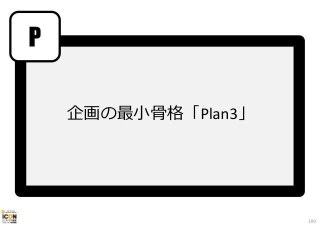 企画の最⼩骨格「Plan3」 P 100