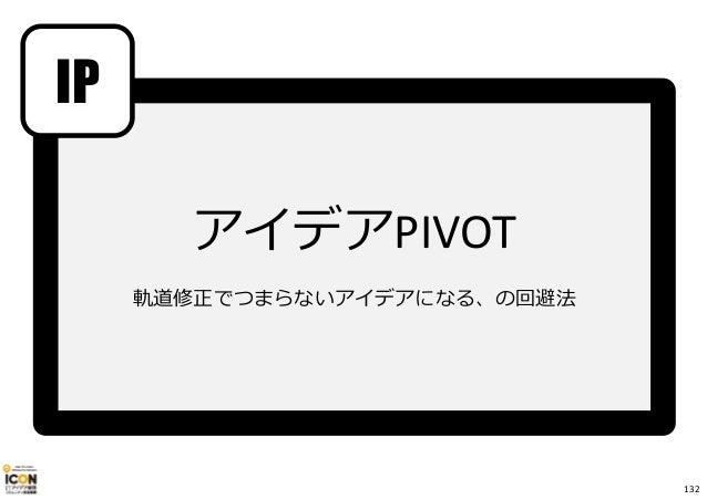 IP アイデアPIVOT 軌道修正でつまらないアイデアになる、の回避法 132