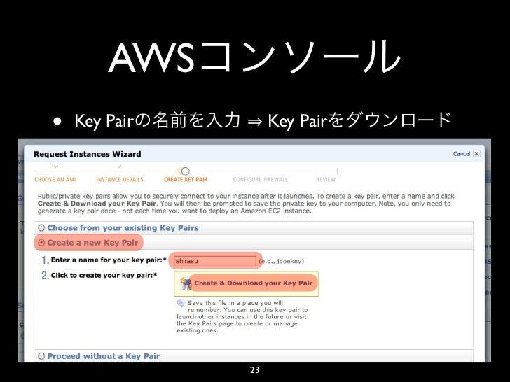 AWS•   Key Pair        Key Pair               23