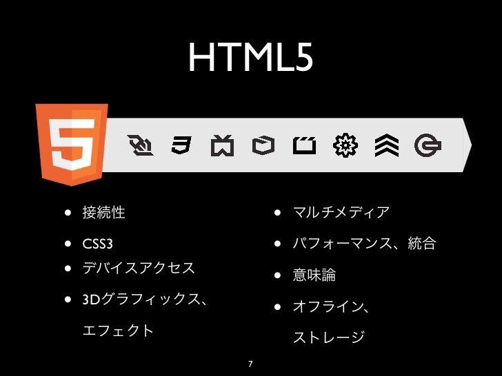 HTML5•                ••   CSS3         ••                ••   3D                 •             7