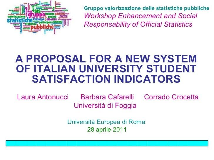 Gruppo valorizzazione delle statistiche pubbliche   Workshop Enhancement and Social Responsability of Official Statistics ...