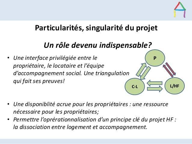 Particularités, singularité du projet Un rôle devenu indispensable? • Une interface privilégiée entre le propriétaire, le ...