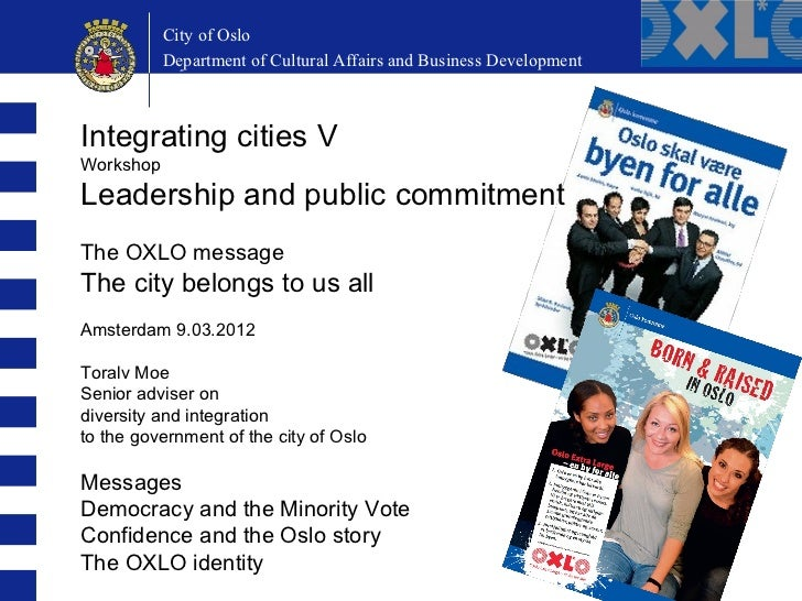 City of Oslo          City of Oslo          Department of Education and Cultural AffairsDevelopment          Department of...