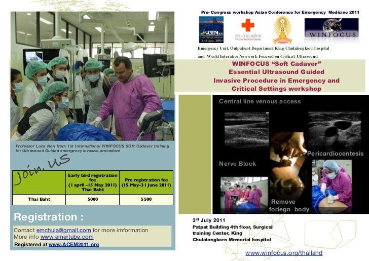 Pre- Congress workshop Asian Conference for Emergency Medicine 2011                                                       ...