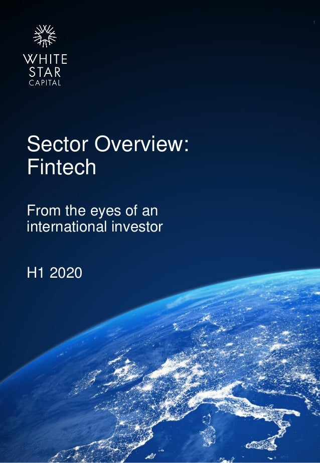 White Star Capital Sector Overview: Fintech From the eyes of an international investor H1 2020 1