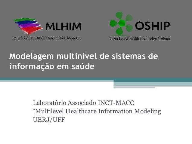 """Modelagem multinível de sistemas deinformação em saúde     Laboratório Associado INCT-MACC     """"Multilevel Healthcare Info..."""