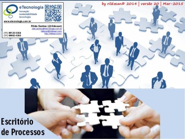 1Versão 20 | Mar 2015 ComoImplementarEscritóriodeProcessos rildo.santos@etecnologia.com.br | etecnologia.com.br | rildosan...