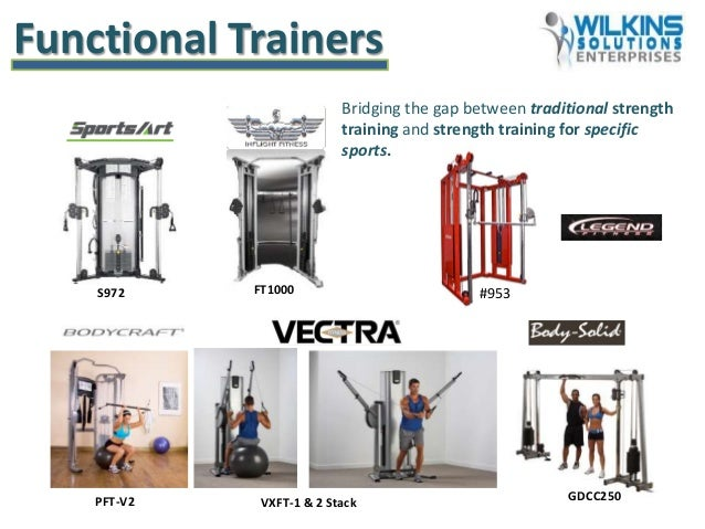 Bridging the gap between traditional strength training and strength training for specific sports. Functional Trainers GDCC...