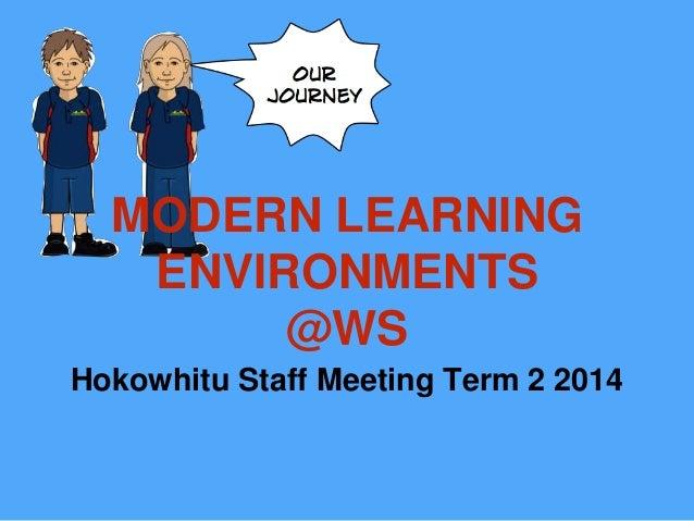 MODERN LEARNING ENVIRONMENTS @WS Hokowhitu Staff Meeting Term 2 2014