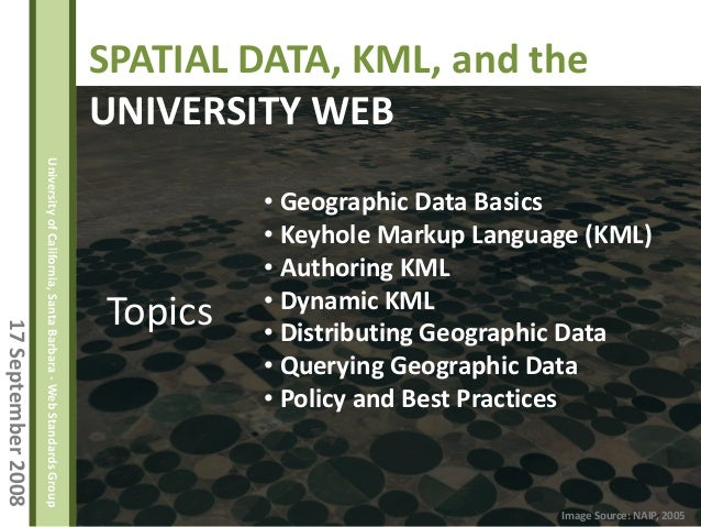 Spatial Data, KML, and the University Web