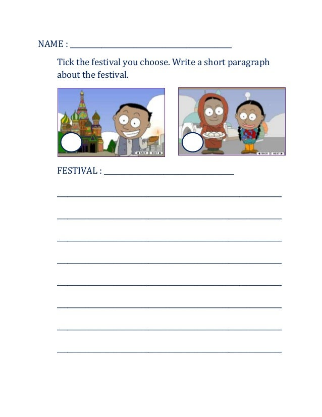 Worksheet Festival In Malaysia