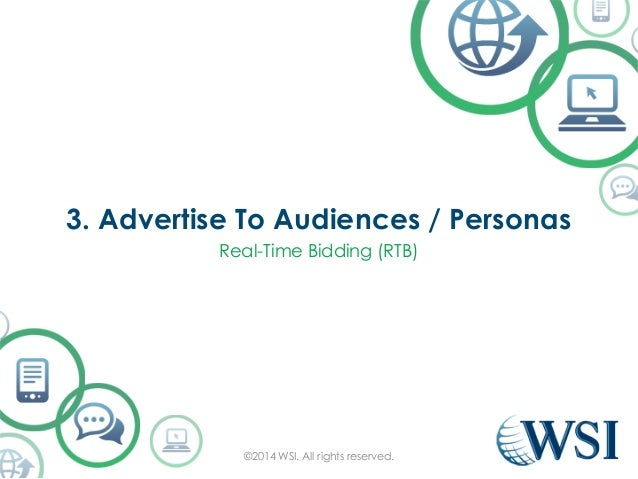 3. Advertise To Audiences / Personas  Real-Time Bidding (RTB)  ©2014 WSI. All rights reserved.