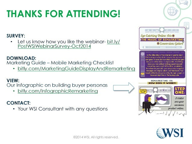 THANKS FOR ATTENDING!  ©2014 WSI. All rights reserved.
