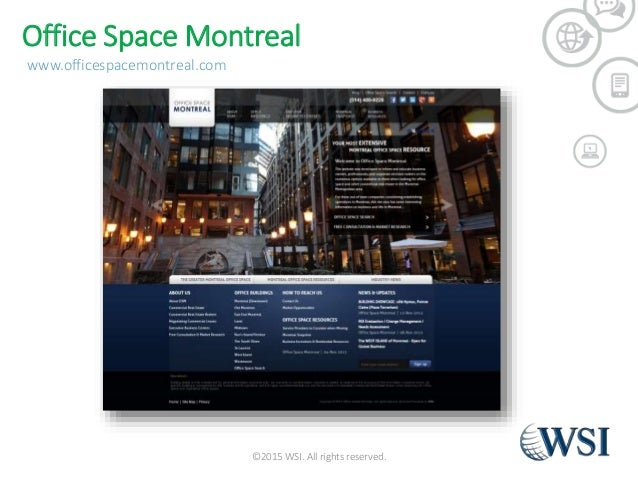 Wsi montreal portfolio laurie mccullagh for Shared office space montreal
