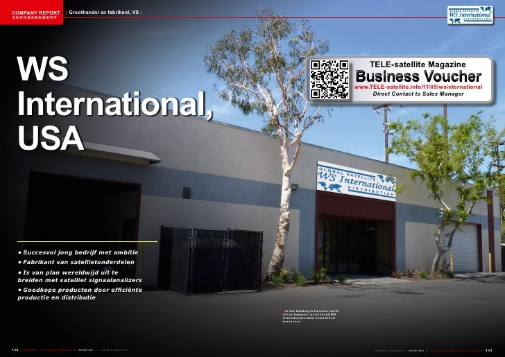 COMPANY REPORT                           Groothandel en fabrikant, VS该独家报道由高级编辑所作   WS                                    ...
