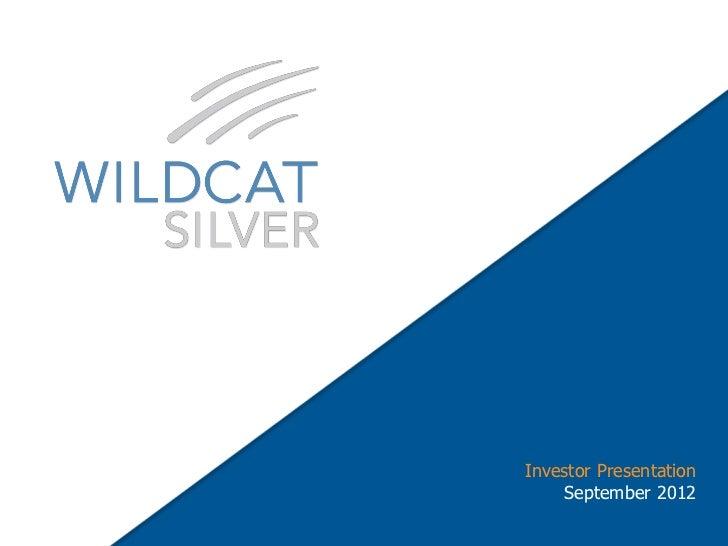 Investor Presentation             September 2012TSX:WS