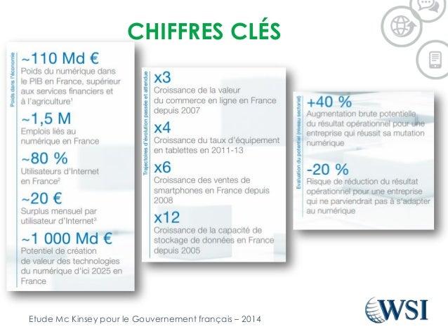 CHIFFRES CLÉS Etude Mc Kinsey pour le Gouvernement français – 2014