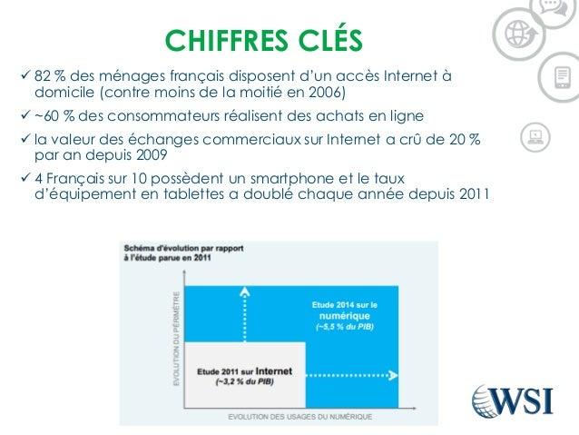 CHIFFRES CLÉS  82 % des ménages français disposent d'un accès Internet à domicile (contre moins de la moitié en 2006)  ~...