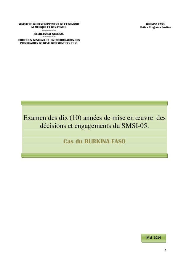 1  MINISTERE DU DEVELOPPEMENT DE L'ECONOMIE  NUMERIQUE ET DES POSTES  -=-=-=-=-=-=-  SECRETARIAT GENERAL  -=-=-=-=-=-=-  D...