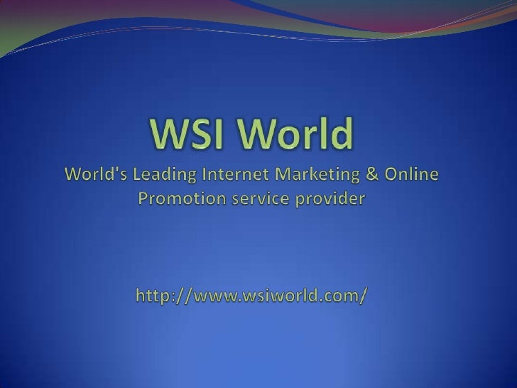 Competitive AnalysisHow We Conduct Your Competitor Analysis WSI offers new customers a competitor analysis that will give ...