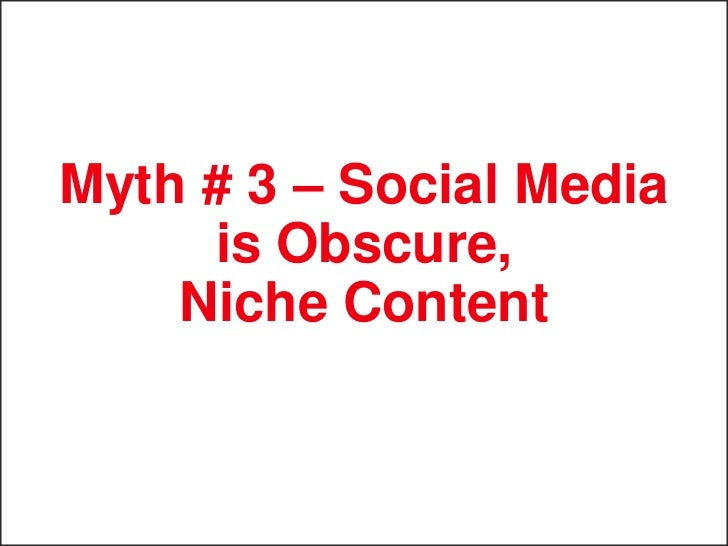 Myth # 4 – Social Media   is Not Relevant to       Conversion