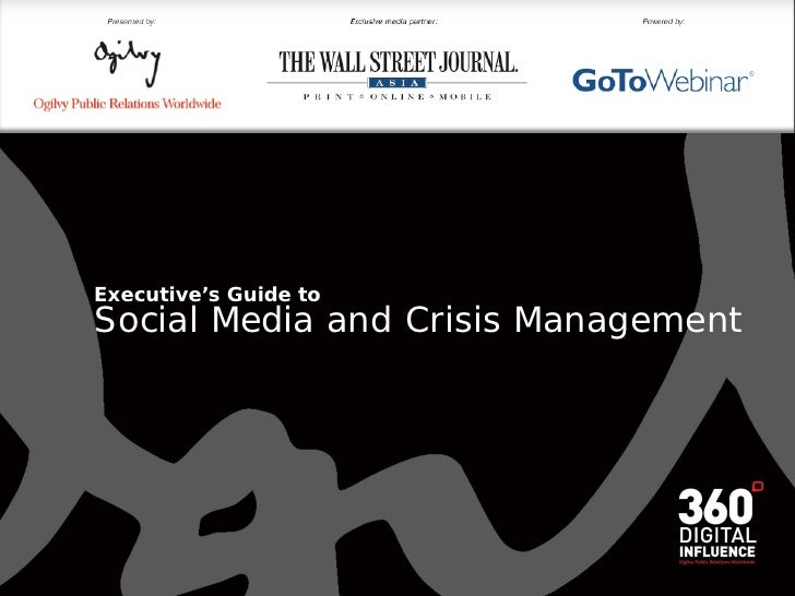 Executive's Guide to Social Media and Crisis Management