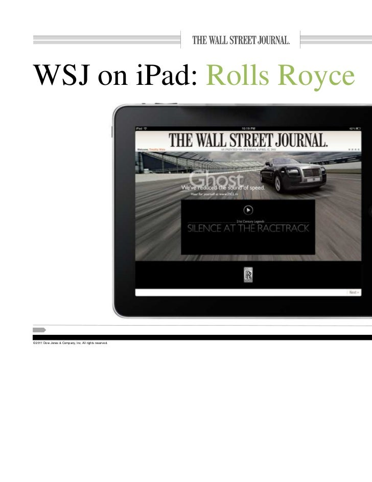 WSJ BDI Mobile Financial Services Communications Leadership - Rolls royce financial services