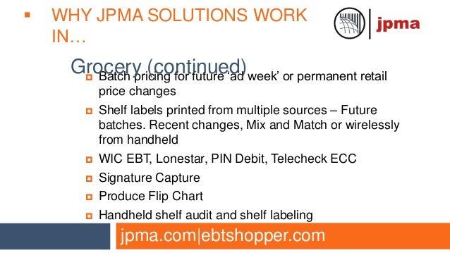 JPMA POS Designer Market Segment Overview
