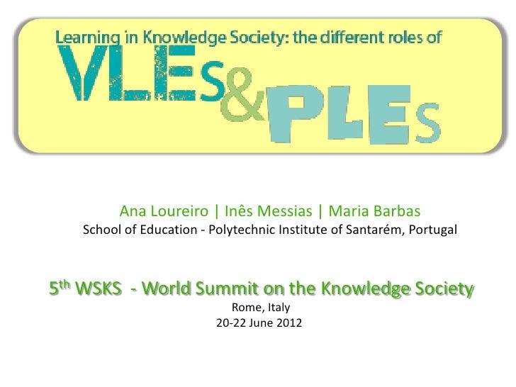 Ana Loureiro | Inês Messias | Maria Barbas   School of Education - Polytechnic Institute of Santarém, Portugal5th WSKS - W...