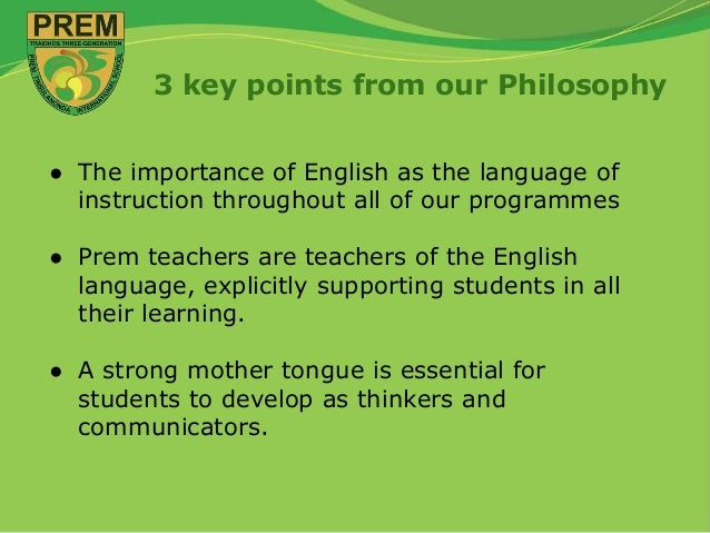 What is the importance of Teaching English in Schools?