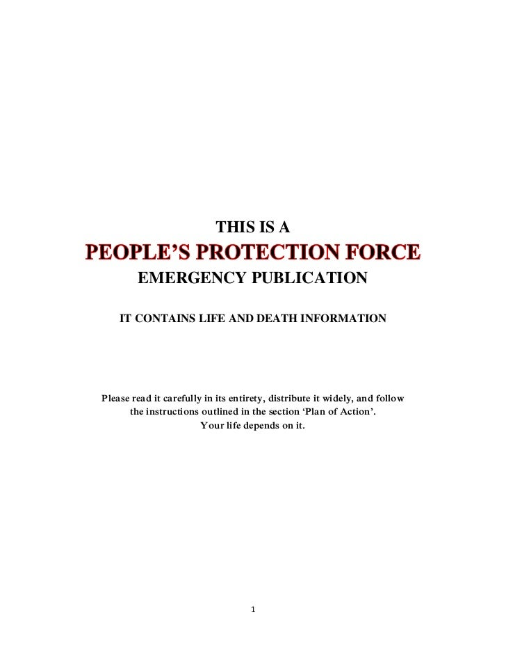 THIS IS A        EMERGENCY PUBLICATION    IT CONTAINS LIFE AND DEATH INFORMATIONPlease read it carefully in its entirety, ...