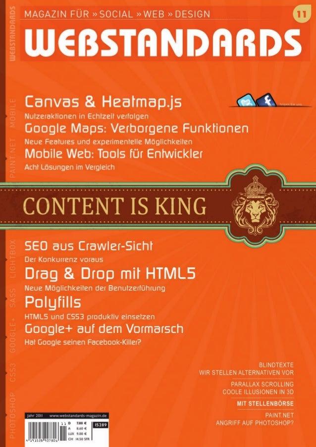 ::MagazinfürWebstandards,Usability,Accessibility,SEO,OpenSource,ContentmanagementSystemeundgutesWebdesign::www.webstandard...