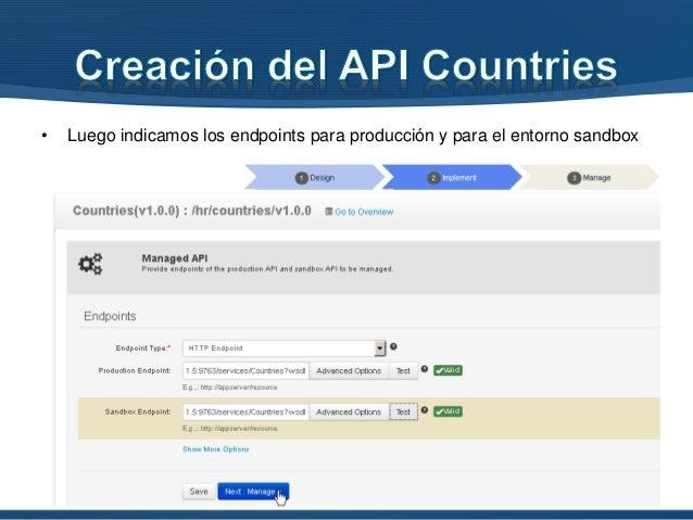 • Ahora podemos ver que aparece la API Countries.