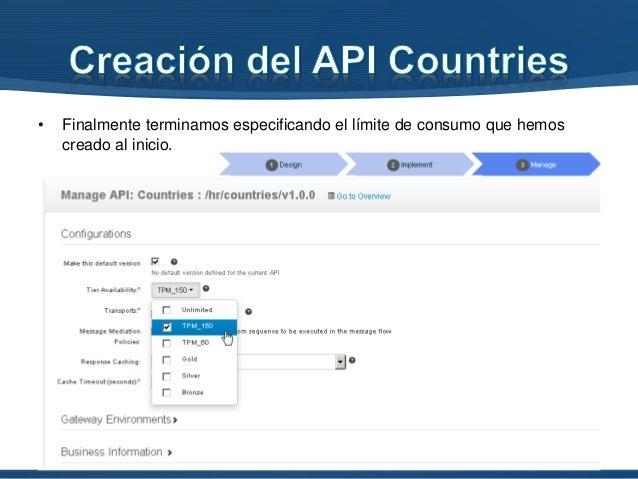• Accedemos al Publisher con la cuenta de un usuario con permisos de publicación del API https://servidor:9445/publisher