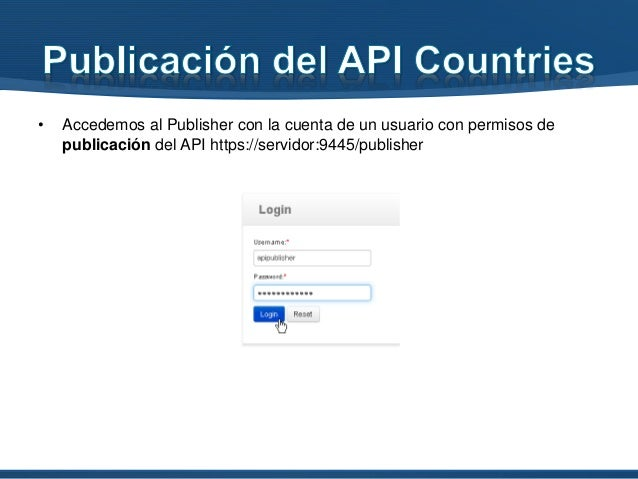 • Una vez publicado el API, acudimos al Store para suscribirnos https://server:9445/store/