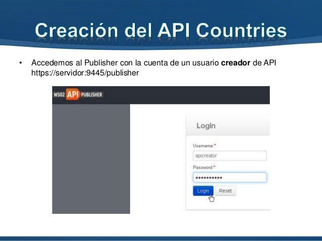 """• Especificamos los datos de publicación y presionamos el botón """"Test URI"""" para validar que el servicio este bien especifi..."""