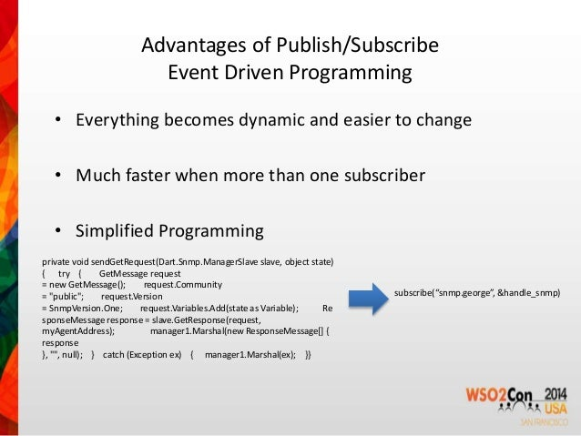 ... 4. Advantages Of Publish/Subscribe Event Driven ...