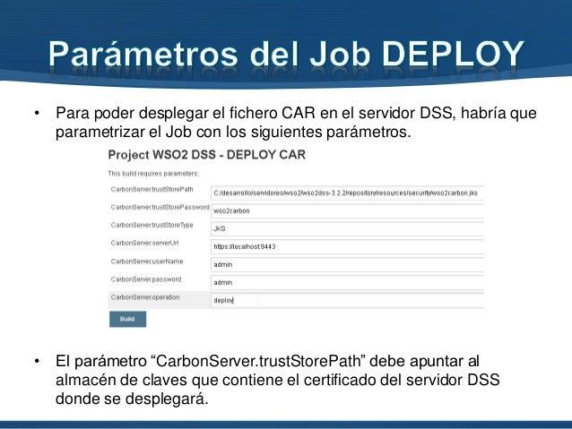 """• Tiene la misma definición de parámetros que el job anterior, salvo que esta vez el valor del parámetro """"operation"""" es """"u..."""