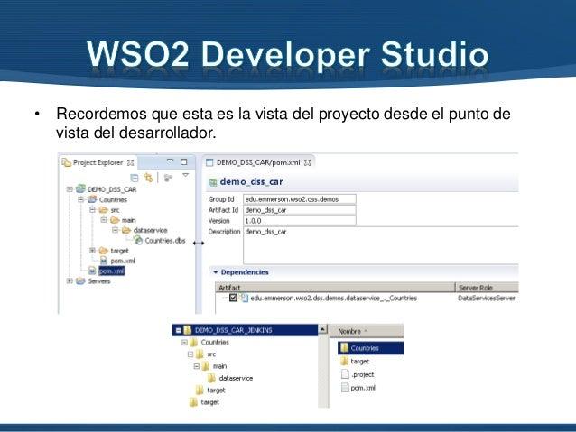• Recordemos que esta es la vista del proyecto desde el punto de vista del desarrollador.