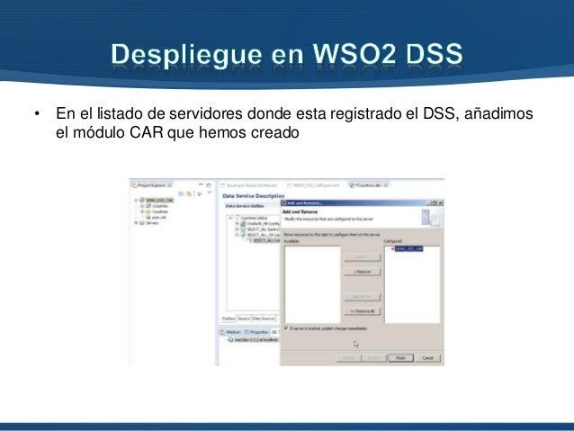 • Ahora nos toca comprobar que el servicio esta devolviendo los datos, con los mapeos especificados, ejecutando la operaci...