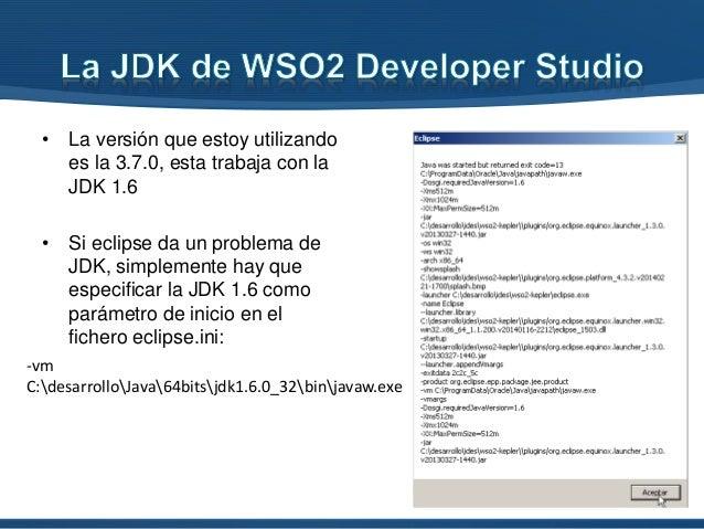 • La versión que estoy utilizando es la 3.7.0, esta trabaja con la JDK 1.6 • Si eclipse da un problema de JDK, simplemente...